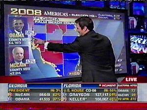 FOX News Election Night Images Nov  4, 2008